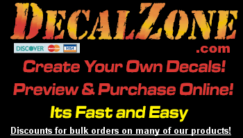 DecalZone, create your own decals, purchase online