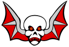 Flying Demon Skull