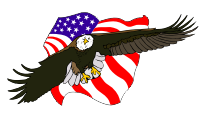 eagle and flags