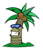 palm tree with sunglasses