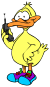 duck on cell phone