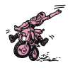 cartoon motorcross