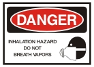 hazard do not breath vapors